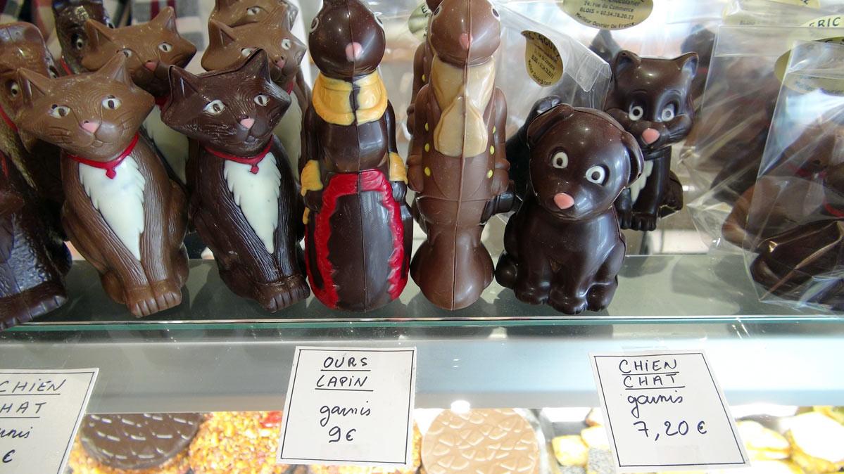 Chocolats de Pâques (Chien, chat, ours et lapin)
