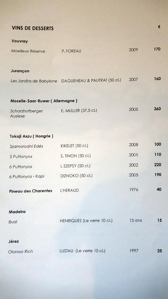 Vins de desserts (Vouvray - Jurançon - Allemagne - Hongrie - Pineau des Charentes - Espagne)