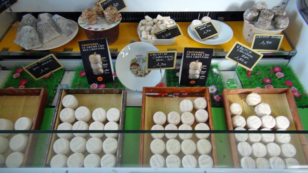 Les fromages à la vente