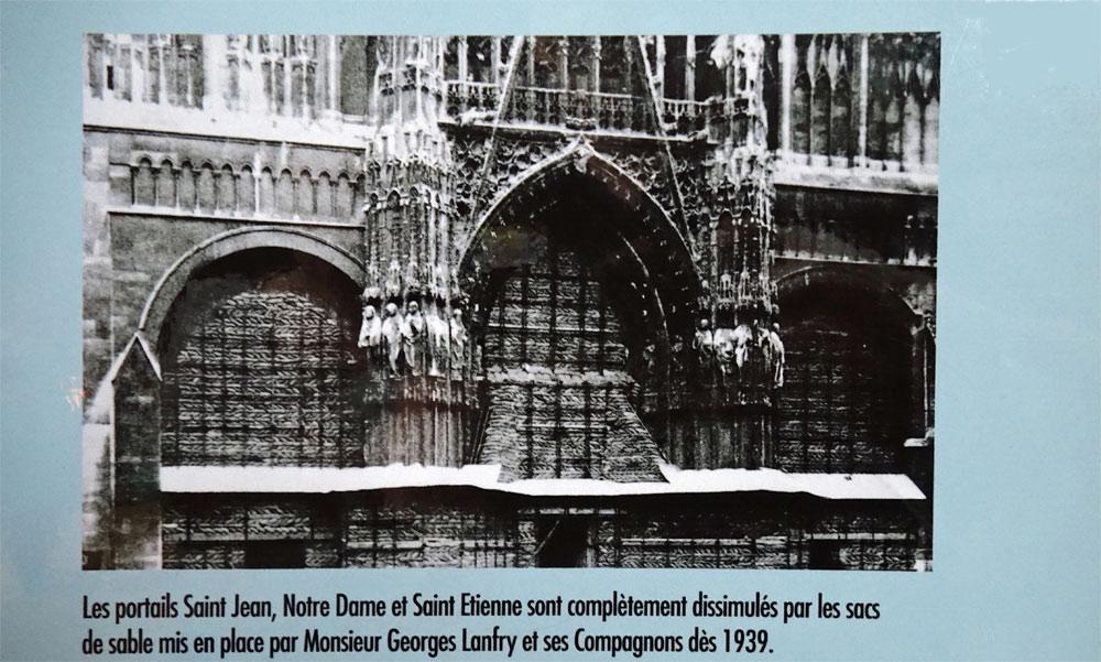 Protection de certaines parties de la Cathédrale dès 1939