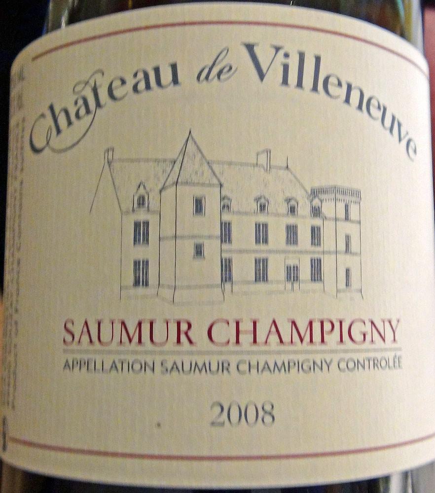 Saumur-Champigny 2008 Château de Villeneuve