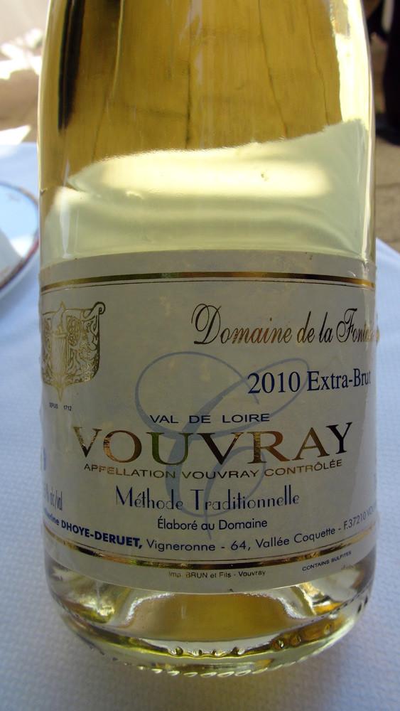 """Vouvray MT 2007 """"Extra brut"""" du domaine de la Fontainerie de Catherine Dhoye-Deruet"""
