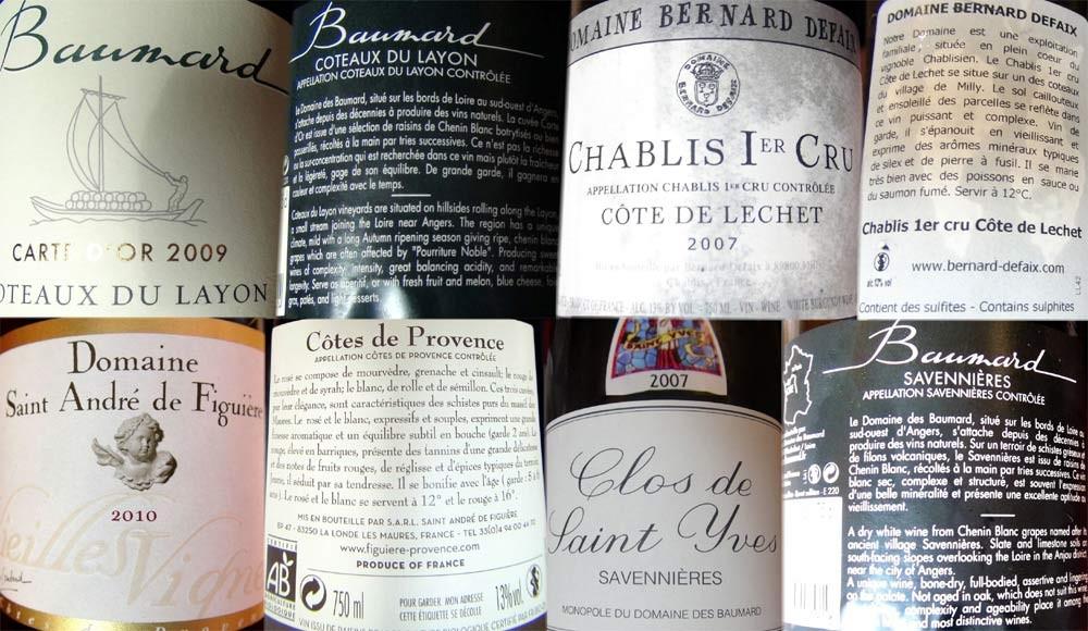 Les vins du repas