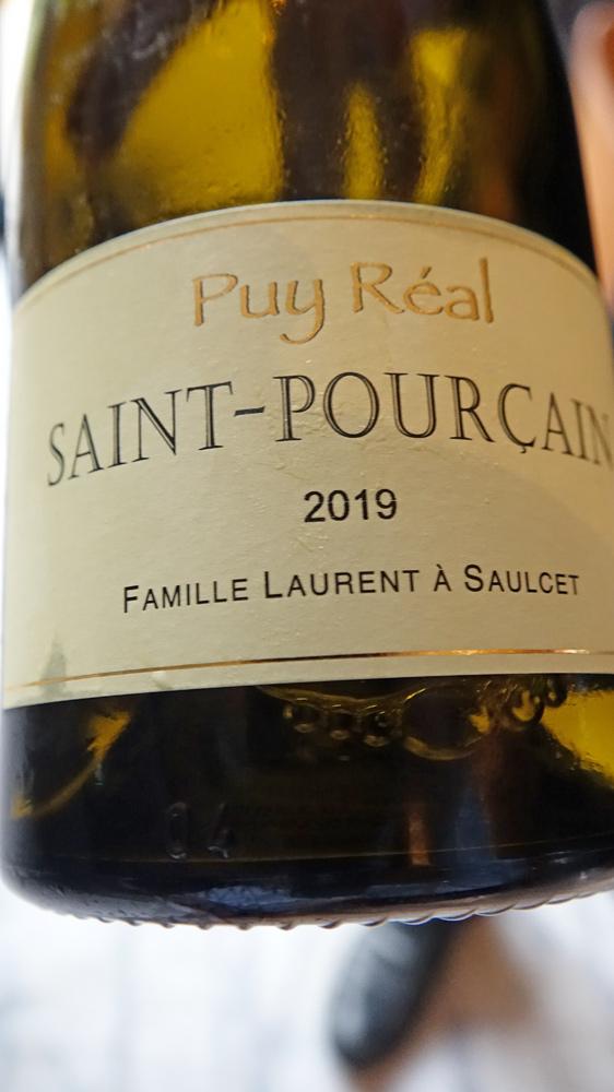 Contre étiquette du Saint-Pourçain blanc