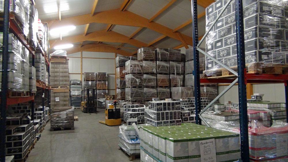 L'entrepôt de stockage