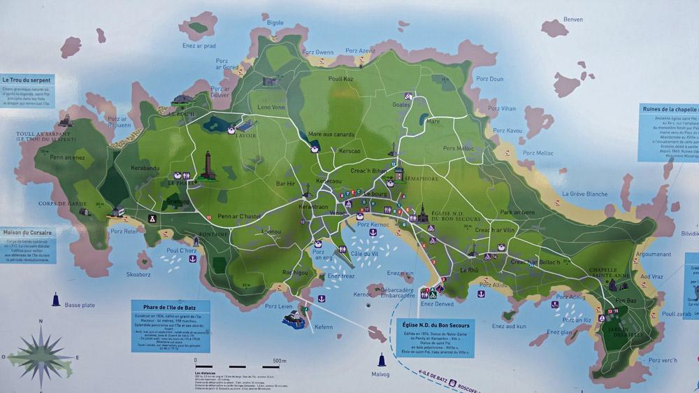 Plan de l'île de Batz