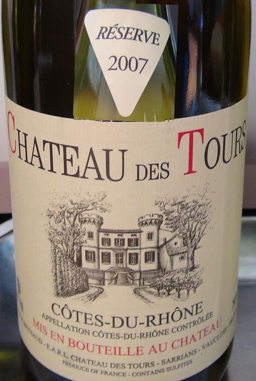 Château des Tours 2007 - AOC Côtes du Rhône