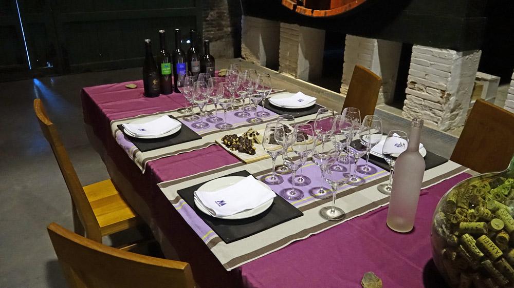 La table pour les accords Maury/Chocolats
