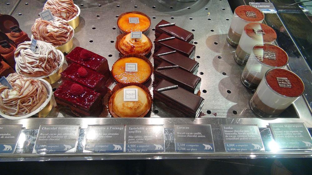 Yuzu - Mont Blanc - Chocolat/framboise - Tartelette à l'orange - Tartelette à la poire soufflée - Caracas - Verrine mascarpone/café