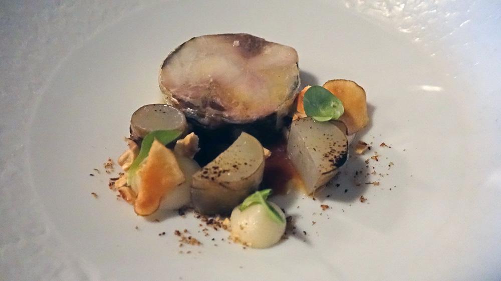 Aspe de Loire grillé, héliantis, noisette