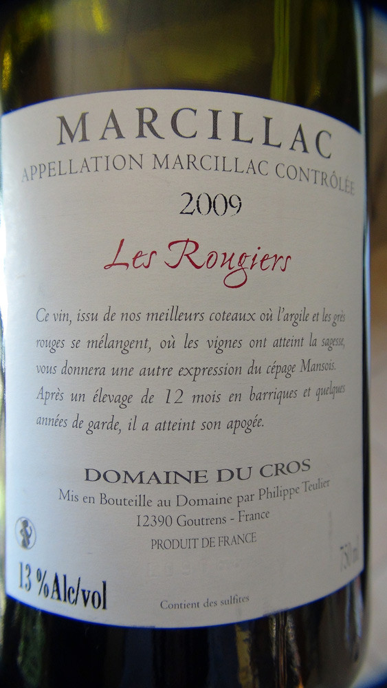 "Marcillac ""Les Rougiers"" 2008"
