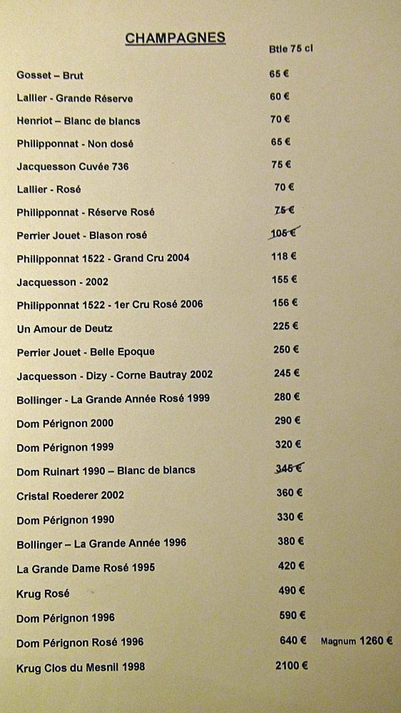 Carte des Champagnes