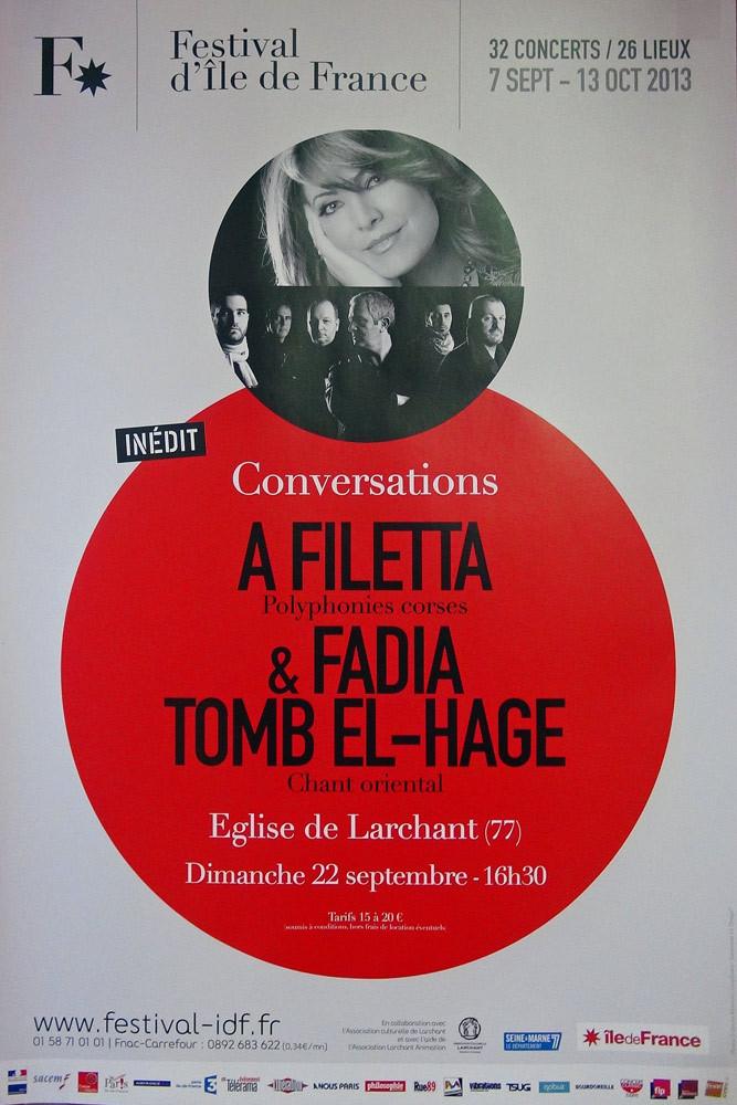 """Egise de Larchant : concert annoncé avec """"A filetta"""", un groupe polyphoniques Corse à découvrir"""