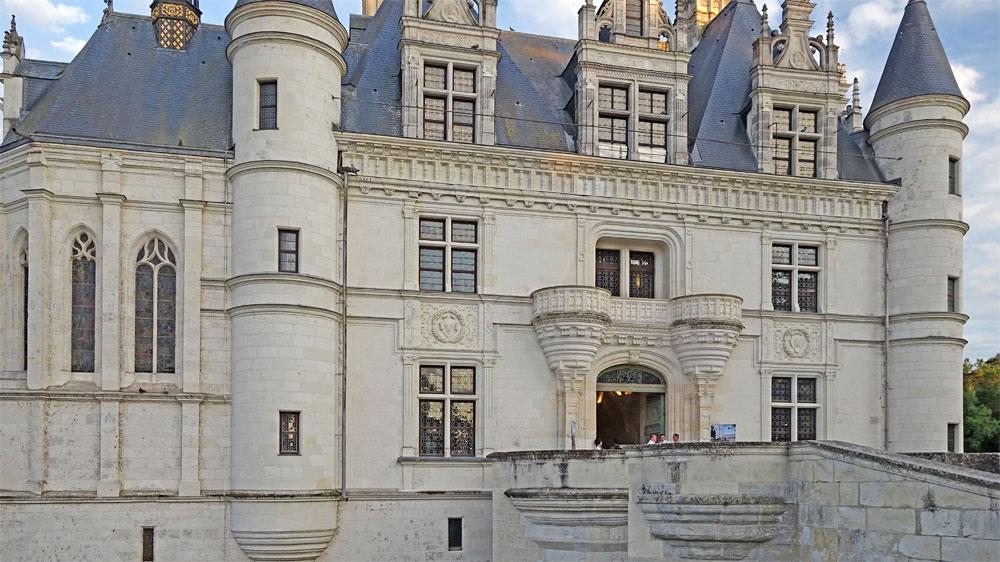 Vue diurne du château