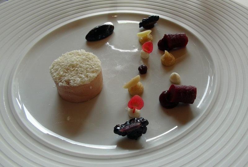 Parfait de foie gras d'oie aux amandes