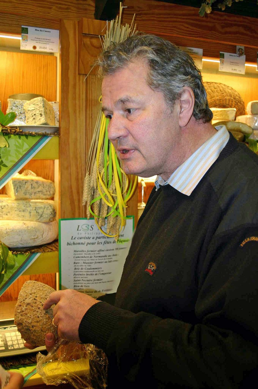 Philippe Olivier dans sa boutique - 3 mars 2010