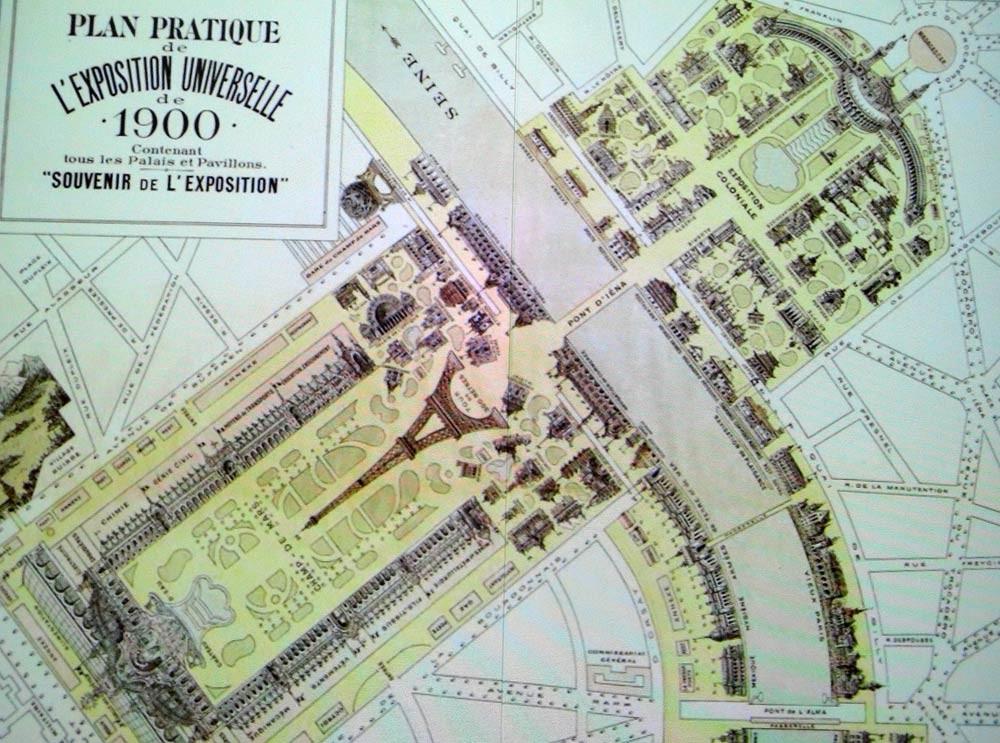 Photo issue du film retraçant le plan de l'Exposition universelle de 1900 à Paris