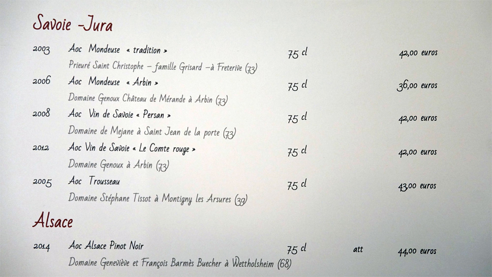 Vins rouges du Jura, Savoie et Alsace