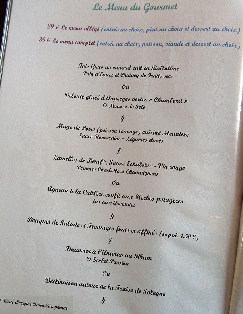 """Le """"Menu du Gourmet"""""""