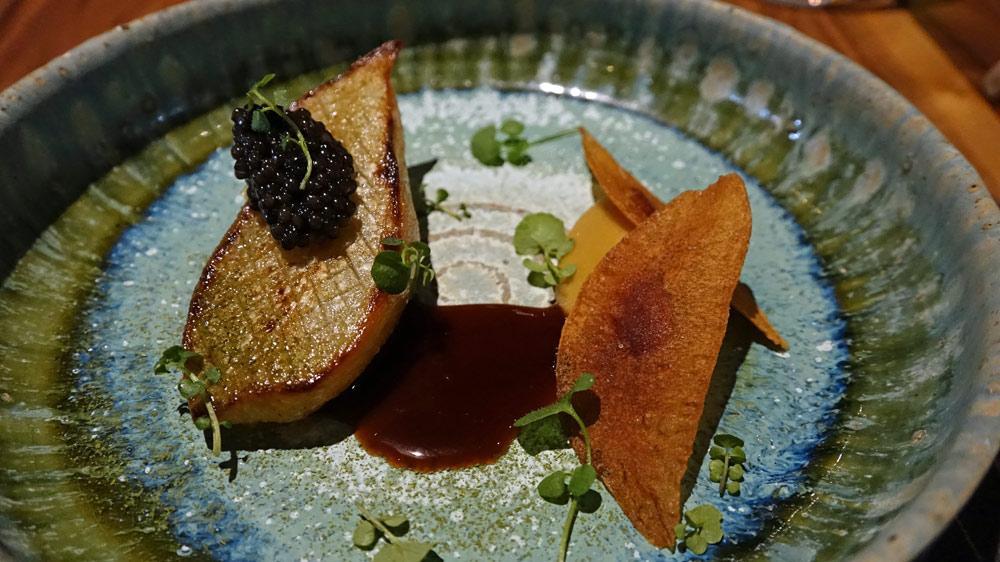 Caviar de Sologne et poire de terre