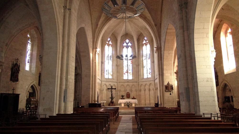 Puy l'Evêque : Eglise fortifiée Saint-Sauveur, son choeur