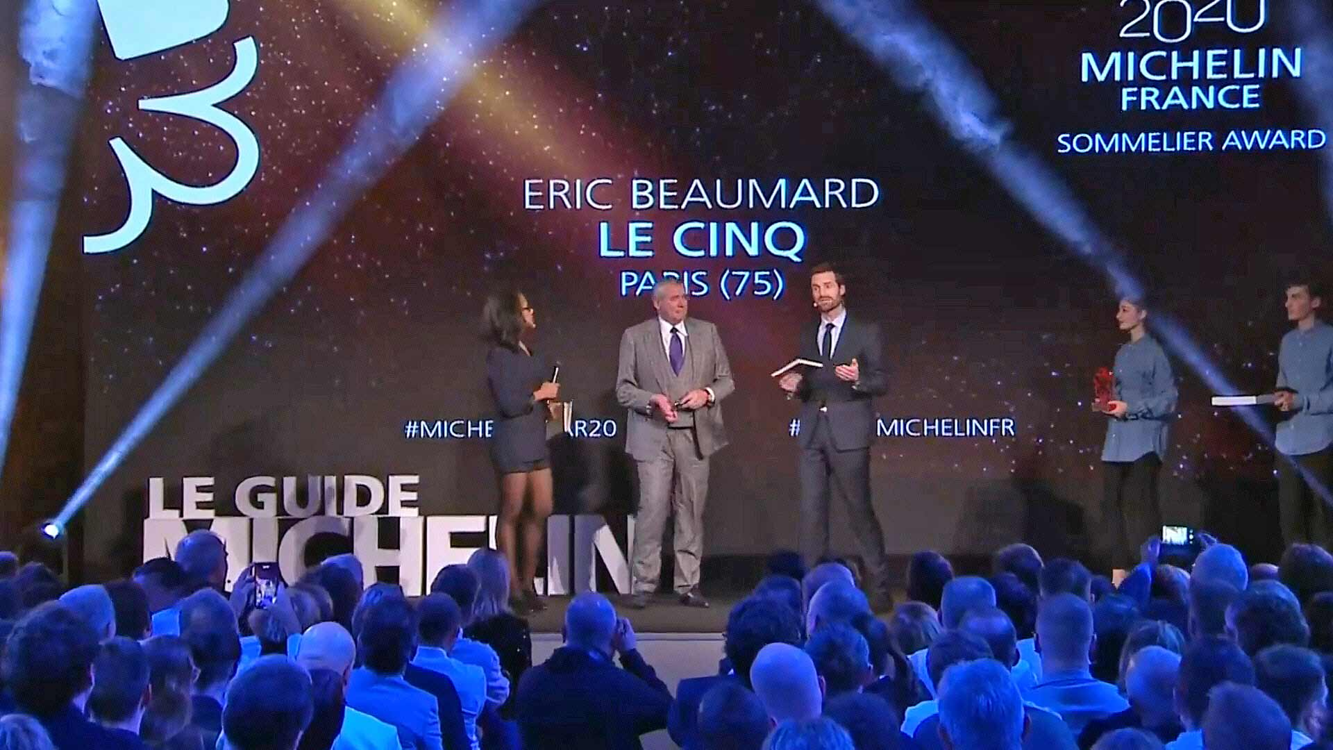 Eric Beaumard sommelier au Cinq