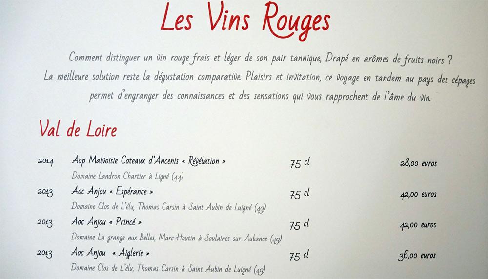 Vins rouges du Val de Loire