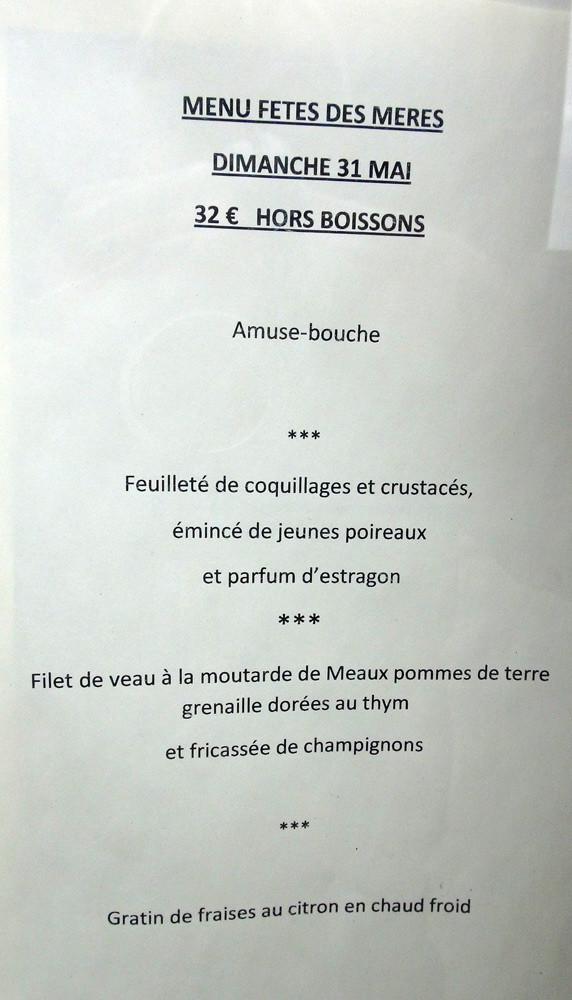 """Menu """"Fêtes des mères"""""""