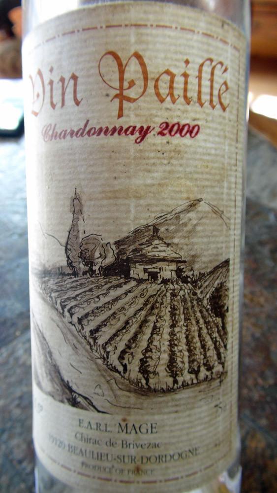Le fameux vin Paillé servi sur le Trépaïs et le Millefeuille