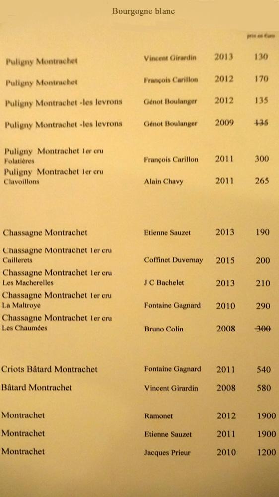 Bourgogne blancs