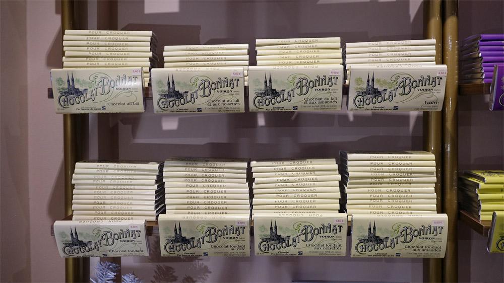 Plaquettes de chocolat disponibles