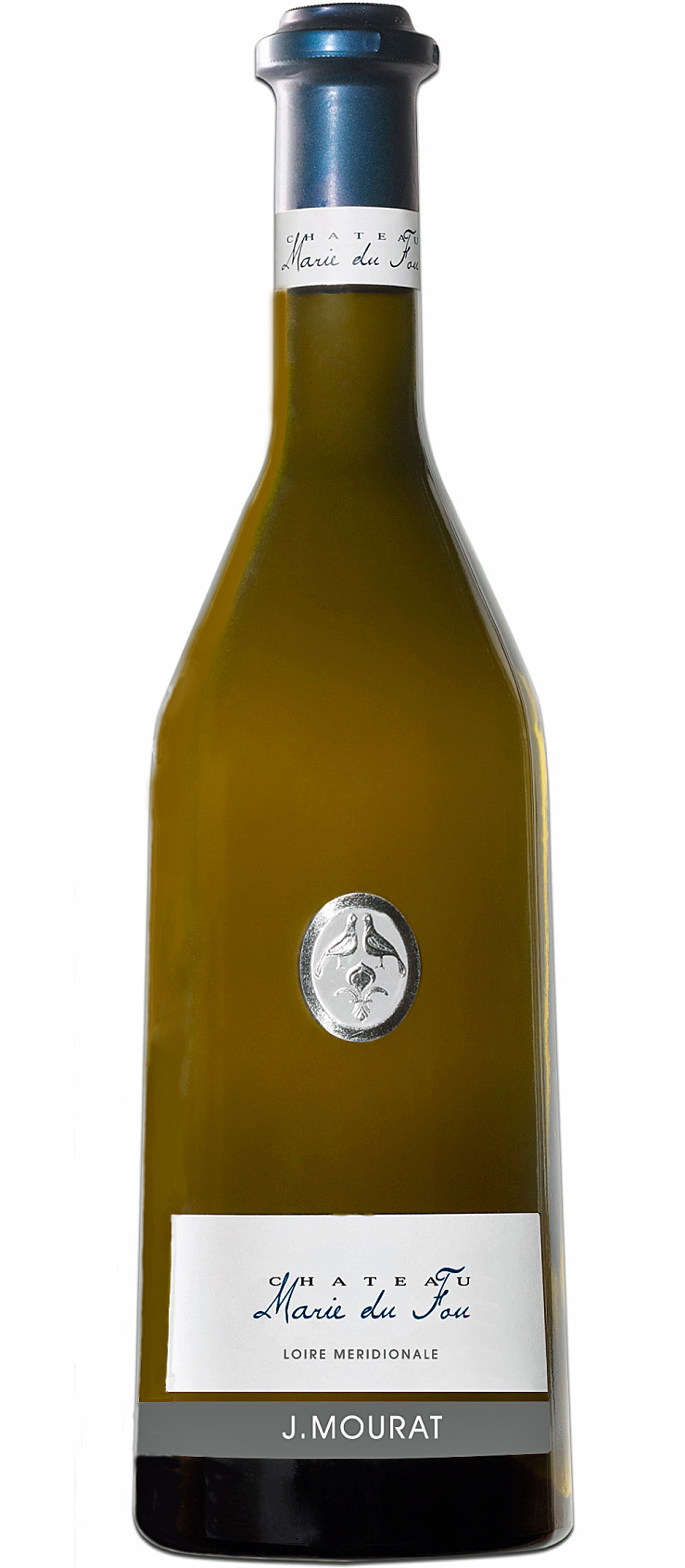 """AOC  Fief Vendéen blanc 2015 """"Marie du Fou"""" de chez Mourat en bouteille"""