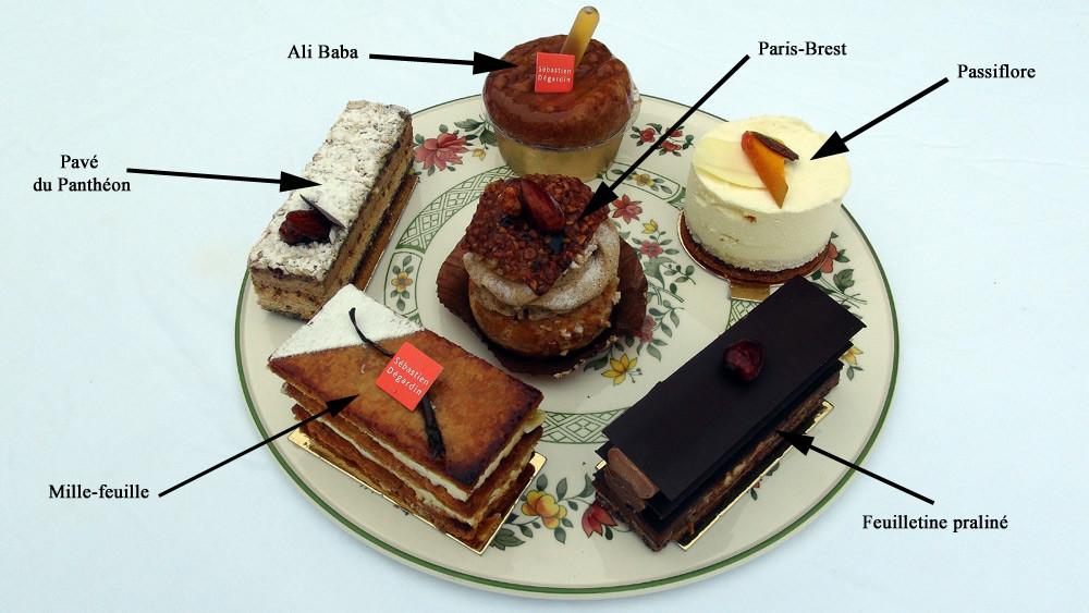 Les gâteaux dégustés