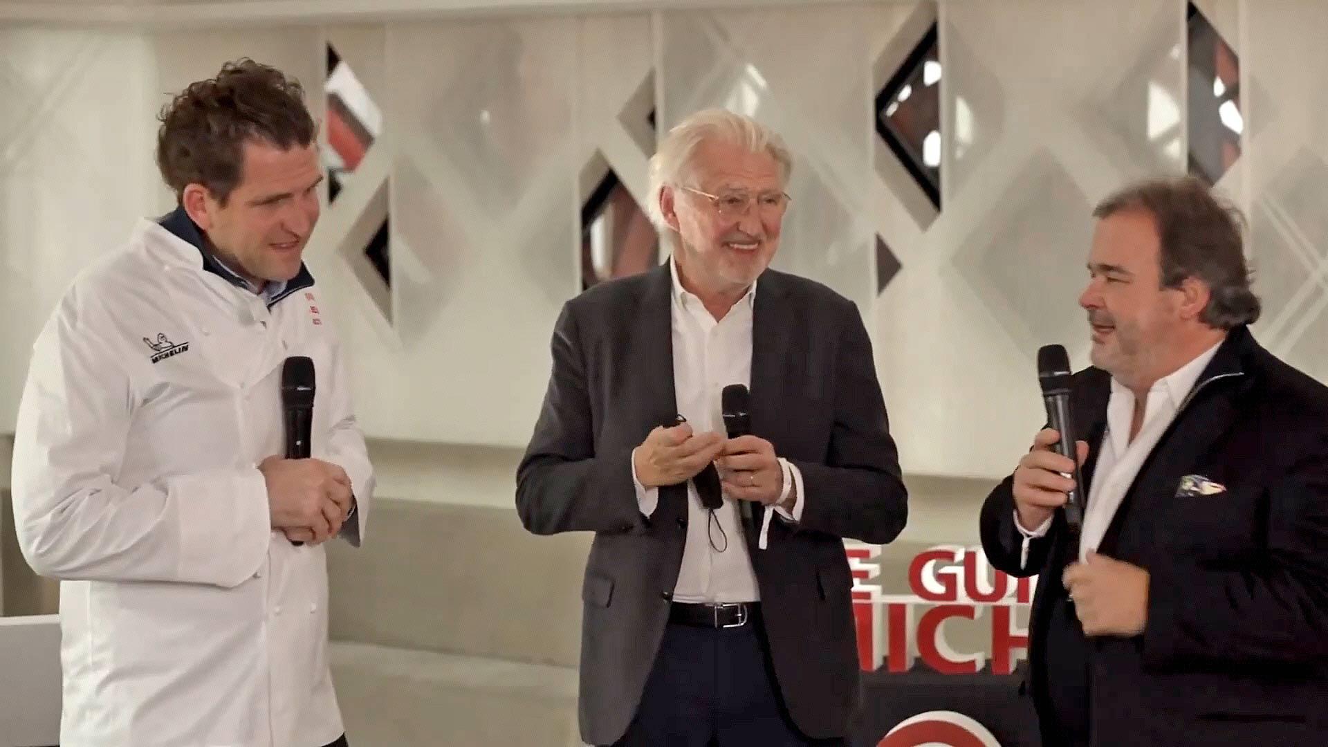 Alexandre Mazzia, Pierre Gagnaire et Pierre Hermé - Crédit photo Michelin