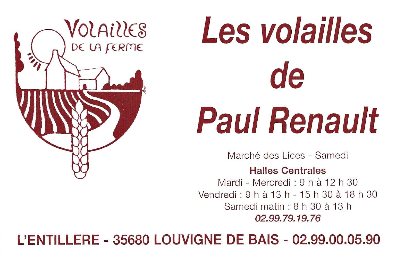 Plaquette pub Paul Renaud