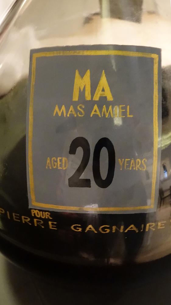 Bonbonne de Mas Amiel, juste pour la photo