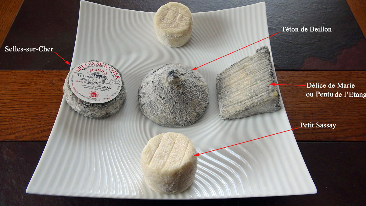 Les fromages achetés (il manque la bûchette)
