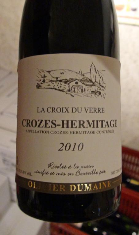 L'un des vins disponibles