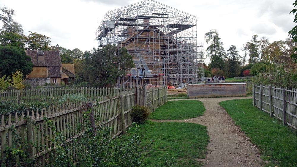 Maison de la Reine en cours de restauration
