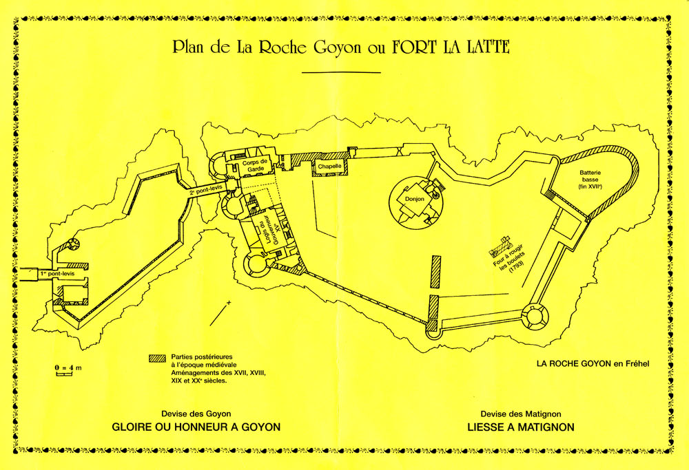 Plan de Fort la Latte