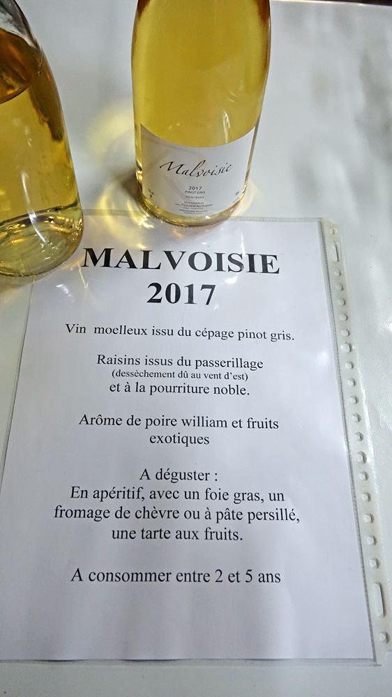 Malvoise (ou Pinot gris) 2017