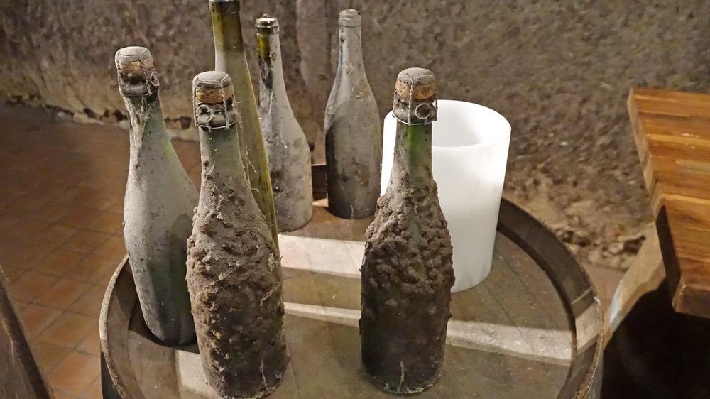 Quelques spécimen d'anciennes bouteilles