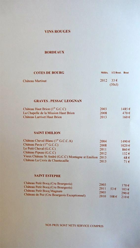 Vins rouges de Bordeaux : Côtes de Bourg, Graves ...