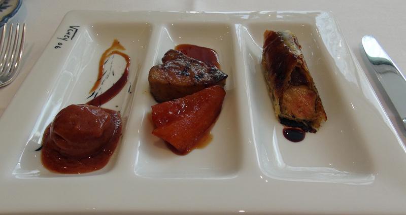 Trilogie de foie gras d'oie