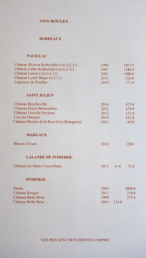 Vins rouges de Bordeaux : Pauillac, Saint-Julien ...