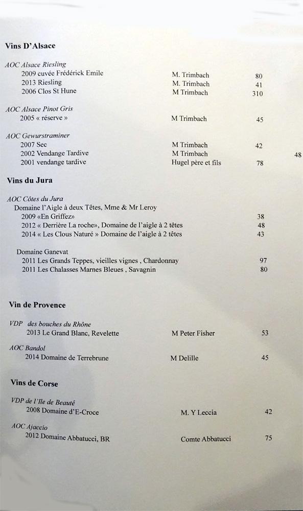 Vins d'Alsace, du Jura et de Provence