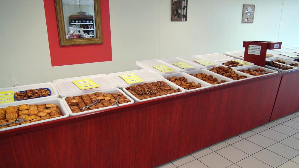 Biscuits en libre-service