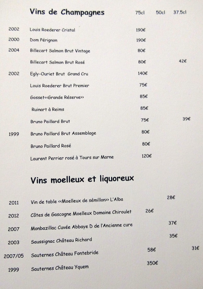 Champagnes et Vins moelleux & Liquoreux
