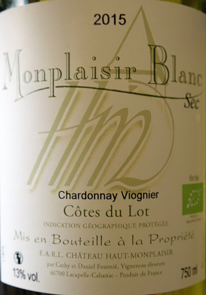 IGP Côtes du Lot  2015 Monplaisir Blanc
