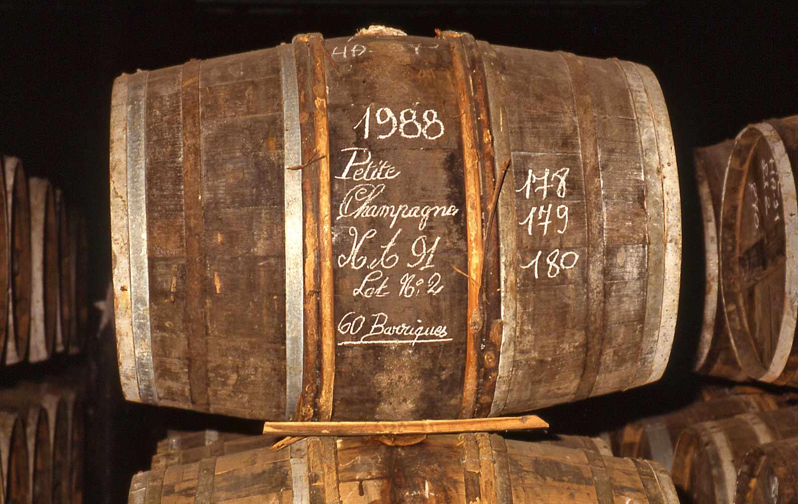Fûts de vieillissement chez Martell (7 septembre 1992)